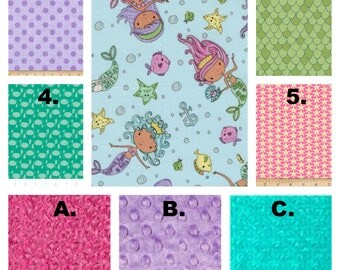 Mermaid Crib Bedding, Glitter, Pink, Lavender, Aqua, Crib Set, Baby Blanket, Boppy Cover, Girl Nursery Decor, Baby Shower, Nursery Decor