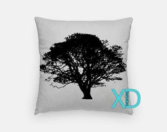 Tree Pillow, Nature Pillow Cover, Branches Pillow Case, Black and Gray Pillow, Artistic Design, Home Decor, Decorative Pillow Case, Sham