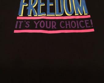 Vintage neon FREEDOM t-shirt XL
