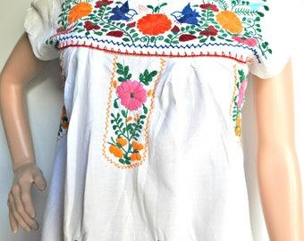 White mexican dress Cotton sundress