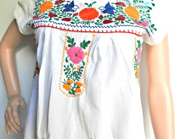 White mexican dress Cotton sundress