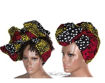 African Head Scarf/ African Head Scarves/ African Head wrap/ African Turban wrap/ African headwrap/Tess World Designs/ HT194