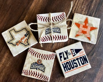 Houston Astros World Series Champions Coaster set