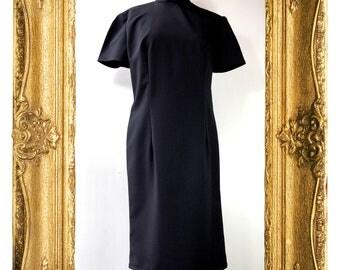 Black with Blue Pinstripe Cheongsam Style Dress SUMMER CLEARANCE SALE