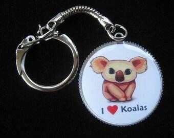 "Keychain ""I love Koala"""