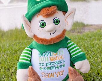 Leprechaun- Custom Embroidered Stuffed Animal