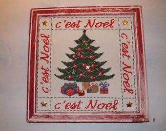 It's Christmas! -painting embroidered cross stitch