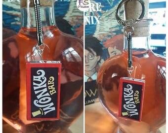 Keychain Willy Wonka bar.