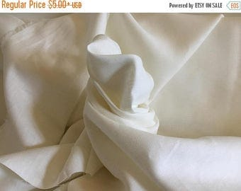 ON SALE Pure Linen Off-White Fabric by the Yard or Half Yard, 52 Inches Wide