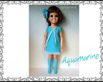 "Vintage Ideal 18"" CRISSY & Brandi Doll CLOTHES - Mod Dress, Boots and Hair Bow - Handmade Custom Fashion - by dolls4emma"
