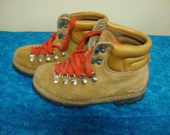 Leather Hiking Boots Made in Italy Size 5 1/2
