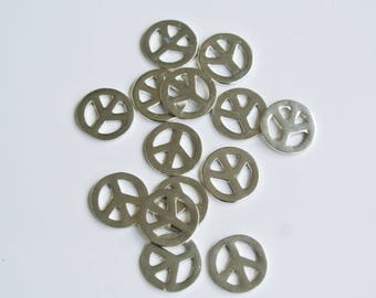7 spacer metal peace and love 12mm