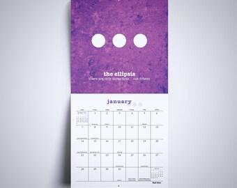 Wall Calendar Gifts for Teachers Gifts 2018 Calendar English Teacher Gift Grammar Calendar Punctuation Calendar Classroom Calendar Funny