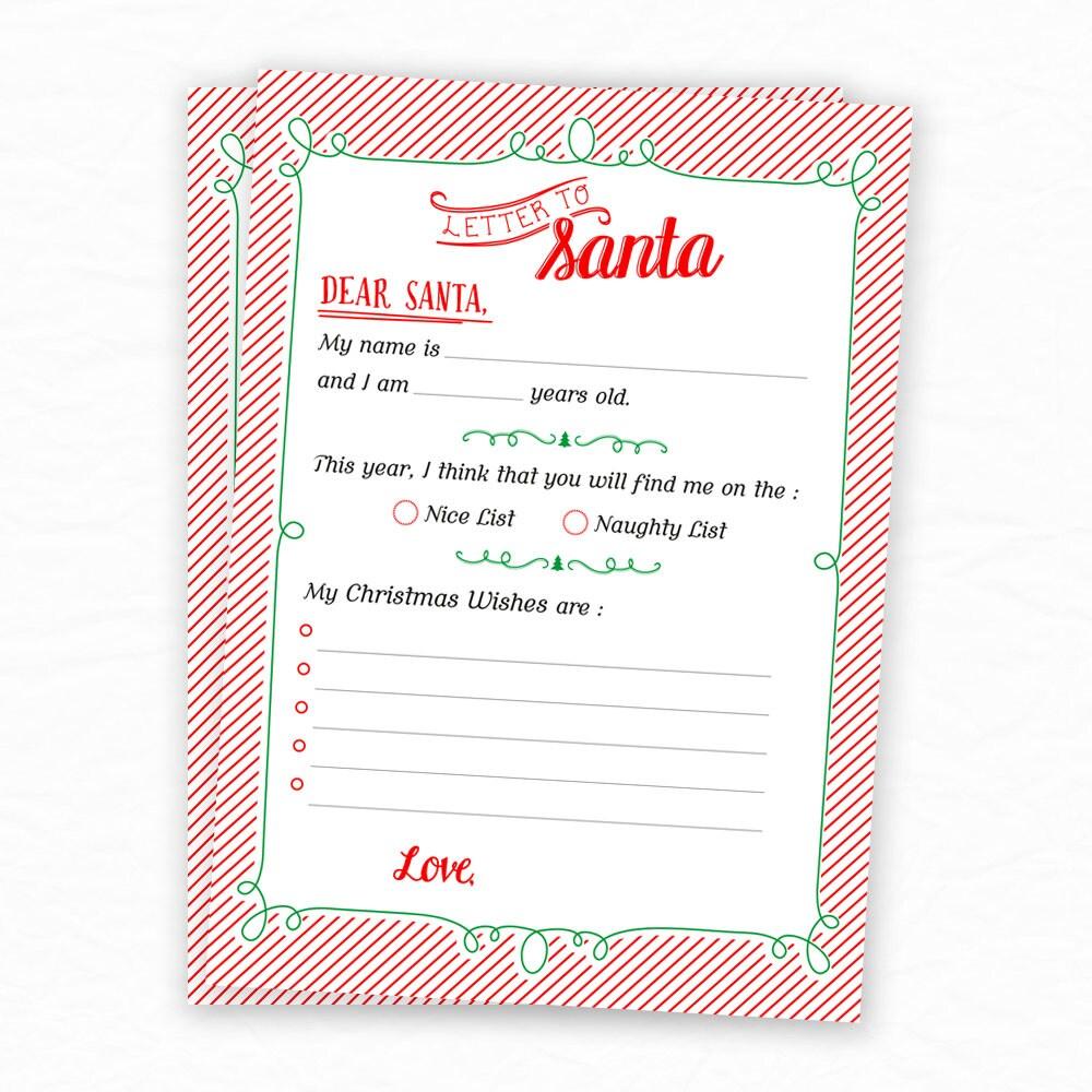 Letter to santa dear santa christmas wishlist christmas letter to santa dear santa christmas wishlist christmas printables for kids naughty spiritdancerdesigns Images
