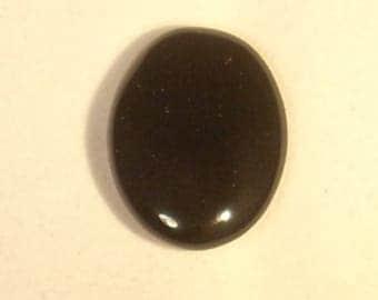 Gemstone oval cabochon black onyx 18x25mm