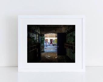 Psych Ward Hallway - Urban Exploration - Fine Art Photography Print
