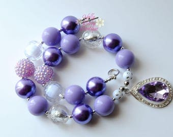 Princess Sophia's Amulet Bubblegum Chunky Bead Necklace