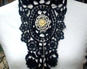 Black venice lace necklace