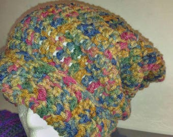 Autumn colored slouch hat