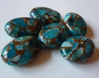 Turquoise Mosaic Stone Beads