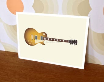 Postcards (8 pack) – Gibson Les Paul electric guitar print (A5 148mm x 210mm)