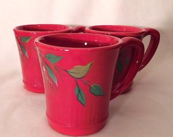 "Tracy Porter JOLLY OL SNOWY Set of 3 Mugs 4"""