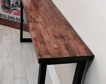 Reclaimed Butcher Block Extra Long and Tall Entry/Sofa Table