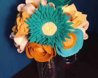 Custom Felt Flower Bouquet, Bridal, Home Decor