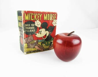 1933 'Mickey Mouse; Sails For Treasure Island' Big Little Book - Cartoons - 'The Big Little Book' Disney - 320 Pages - Collector Book