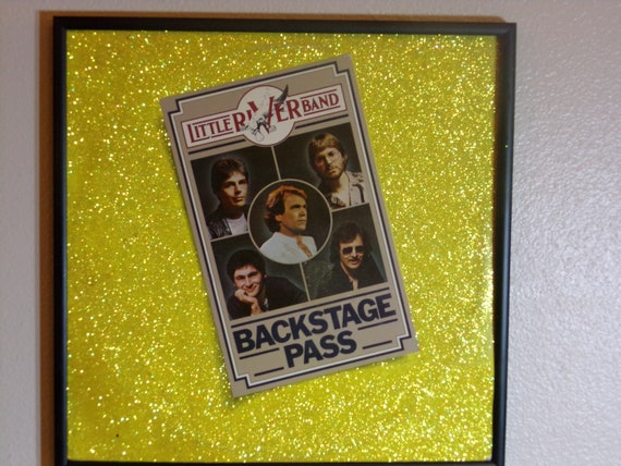 Glittered Record Album - Backstage Pass - Little River Band