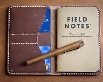 "The ""Park Sloper No Pen,"" Field Notes wallet, Horween leather - natural Chromexcel"