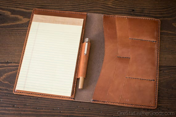 DISCOUNTED Jr. Legal Padfolio, Lefty model, brown/chesnut