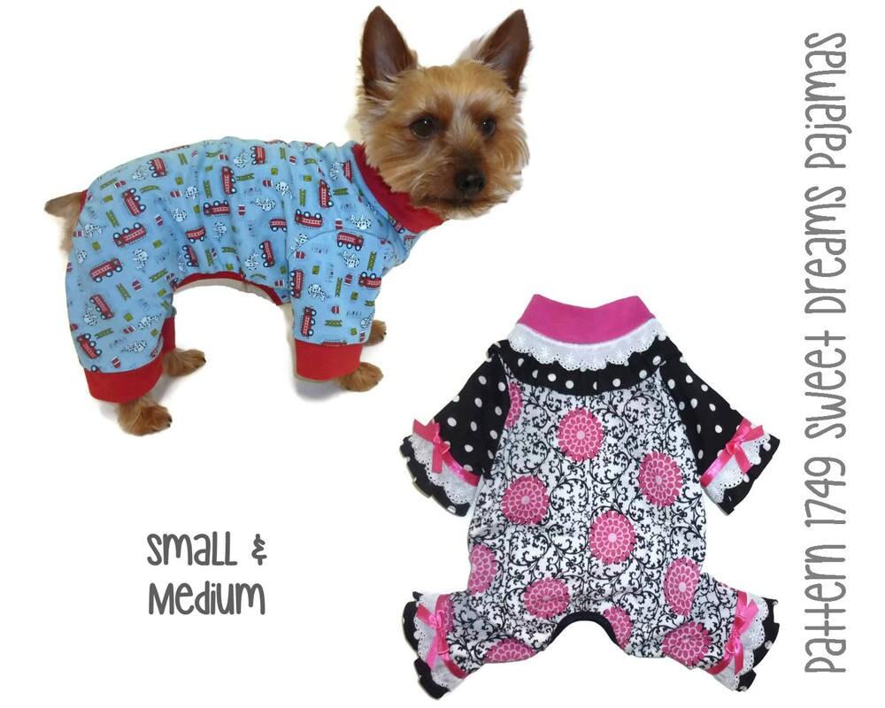 sweet dreams dog pajama pattern 1749 small u0026 medium dog
