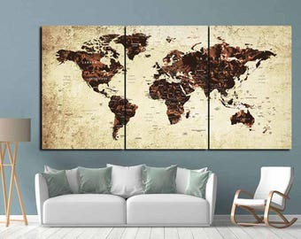 World Map Wall Decor map wall decor | etsy