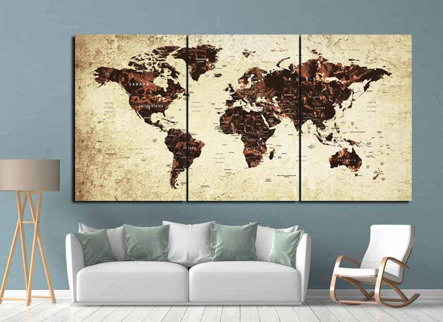 World mapworld map wall artworld map canvaslarge world map art world mapworld map wall artworld map canvaslarge world map artvintage world mapworld map wall decortravel mappush pin mapmap art gumiabroncs Image collections