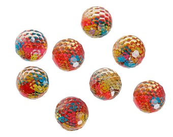 Set of 10 resin way kaleidoscope cabochon 8mm