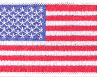 3 1/2 Inch American Flag Patch