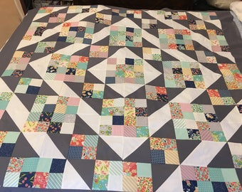 Tuppence by Moda Scrappy Quilt Top 60x60