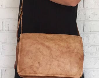 Tan Leather Crossbody bag
