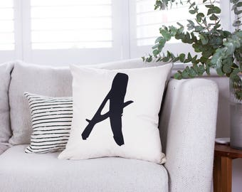 Personalised Initial Cushion - Letter Cushion - Initial Letter - Initial Homeware - Personalised Cushion - Initial Cushion Cover - Cushion