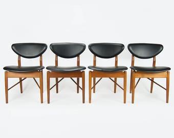 Set of 4 Finn Juhl Model 108 Dining Chairs
