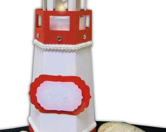 Lighthouse shaped container for sweets