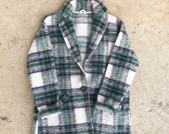 Vintage 70's Plaid Stedman Wool Coat