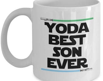 Yoda Best Son Ever Star Wars Birthday Funny Nerd Gift for family