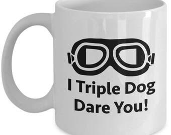 Christmas Story Triple Dog Dare You Funny Gift Mug Coffee Cup Movie Goggles