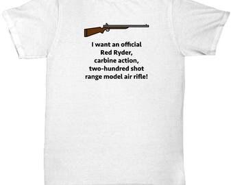 Christmas Story Red Ryder BB Gun Funny Gift Shirt Movie Ralphie
