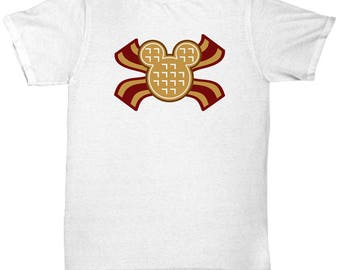 Mickey Waffles Bacon Disney Fun Gift Shirt Disneyland Breakfast Brunch Waffle Mouse