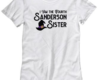 Halloween Hocus Pocus 4th Sanderson Sister Funny Gift Shirt for Women Fourth