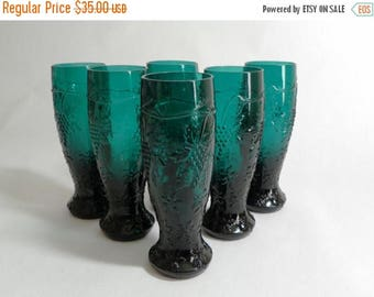 ON SALE Pressed Glass Apertif/Cordial - Set of 6