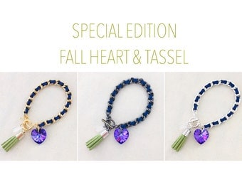 Special Edition Fall Heart & Tassel - your choice of hardware